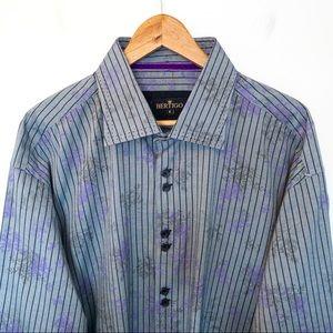 Bertigo Men Size 4XL Shirt Striped Long Sleeves